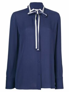 Valentino contrast trim top - Blue