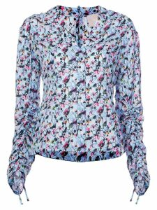 Jason Wu Collection floral ruched blouse - Blue