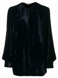 Stella McCartney velvet keyhole blouse - Blue