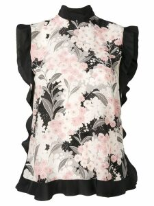 Red Valentino floral print blouse - Black