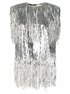 MSGM sequin fringed top - SILVER