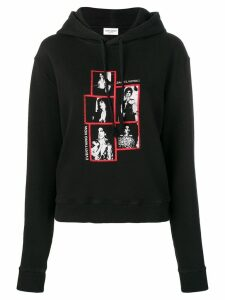 Saint Laurent Everything Now print hoodie - Black