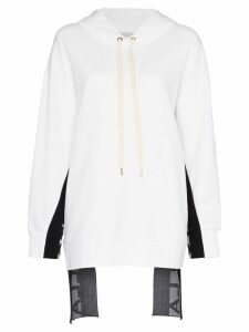 Stella McCartney logo stripe hoodie - White