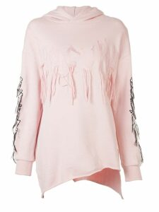 Haculla Visionary asymmetric patch hoodie - PINK