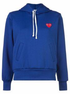 Comme Des Garçons Play heart logo hoodie - Blue