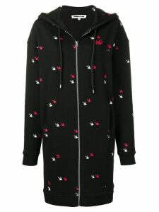 McQ Alexander McQueen logo embroidered oversized hoodie - Black