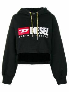 Diesel cropped hoodie - Black