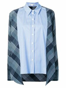 Stella McCartney striped checked shirt - Blue