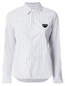Comme Des Garçons Play logo patch striped shirt - Blue