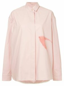 Walk Of Shame concealed front shirt - PINK