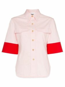 Calvin Klein 205W39nyc contrast sleeve shirt - PINK