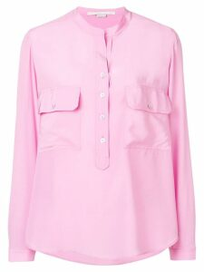 Stella McCartney draped collarless blouse - Pink
