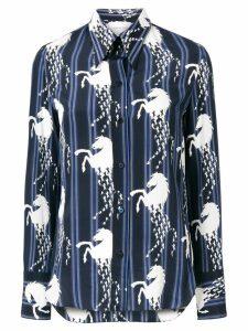 Chloé horse-print shirt - Blue