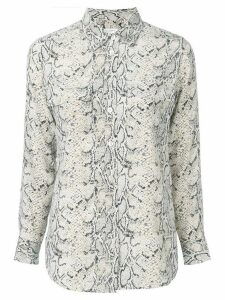 Equipment snake print shirt - NEUTRALS