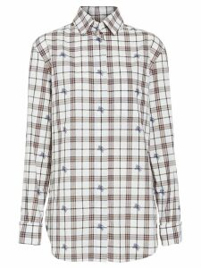 Burberry Fil Coupé Check Cotton Shirt - White