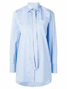 Valentino necktie detail striped shirt - Blue