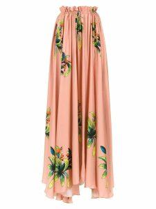 Amir Slama long silk skirt - NEUTRALS