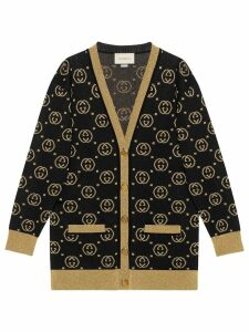 Gucci Wool cardigan with GG motif - Black