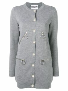 Moschino button-up cardigan - Grey