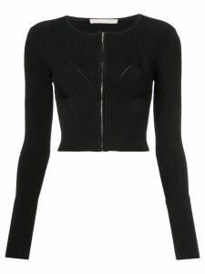 Jason Wu Collection zipped cropped cardigan - Black
