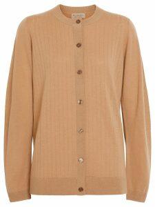 Burberry Rib Knit Cashmere Cardigan - Neutrals