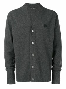 Acne Studios Neve Face cardigan sweater - Grey