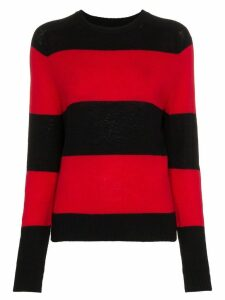 RE/DONE Striped Long Sleeve Crew Neck Jumper - Black