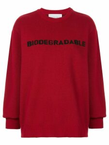 Strateas Carlucci 'Biodegradable' knit sweater - Red