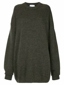 Strateas Carlucci oversized knit sweater - Grey