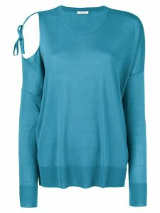 P.A.R.O.S.H. cut out shoulder sweater - Blue