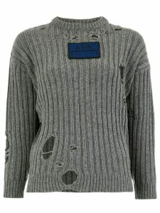 A-Cold-Wall* distressed detail sweater - Grey
