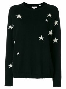 Chinti and Parker star knit cashmere jumper - Black