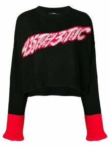 Diesel M-TICX cropped jumper - Black