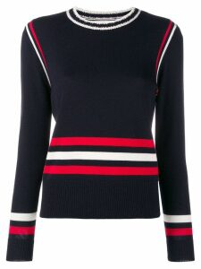 Chinti & Parker colour-block striped sweater - Blue