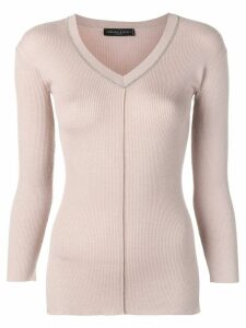 Fabiana Filippi fitted knit sweater - PINK