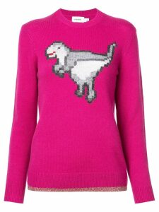 Coach dinosaur knitted jumper - PINK