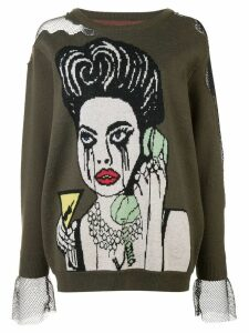 Haculla He Blocked Me sweater - Green