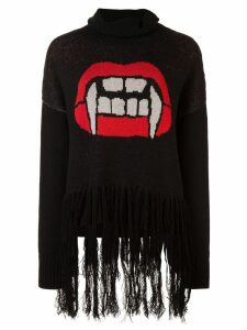 Haculla Caught up fringed sweater - Black