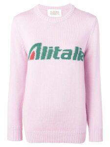 Alberta Ferretti Alitalia knit sweater - PINK