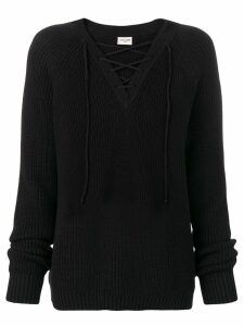Saint Laurent knitted jumper - Black