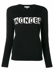 Chinti & Parker slogan long-sleeve sweater - Black