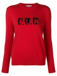 Chinti & Parker slogan embroidered sweater