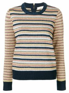 Tory Burch striped knitted jumper - Blue