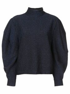 Patbo lurex super sleeve sweater - Blue