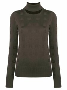 Chalayan split neck sweater - Brown