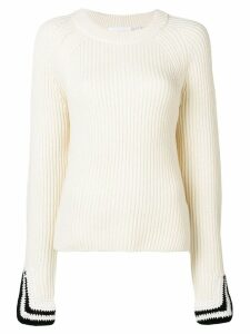 Helmut Lang ribbed sweater - NEUTRALS