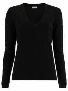 Maison Ullens cashmere ribbed knitted jumper - Black