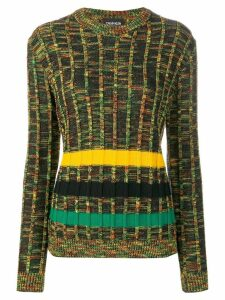 Calvin Klein 205W39nyc striped jumper - Green