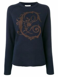 Chloé baroque lurex intarsia sweater - Blue