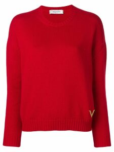 Valentino crew-neck cashmere jumper - Red